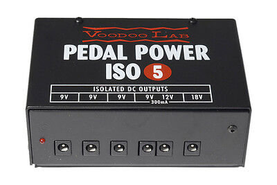 VooDoo Lab ISO-5 Effects Power Supply For DC Pedals (NEW)