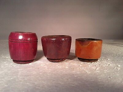 Lot of 3 Vintage Replacement Bowls For Aluminum Metal Tobacco Pipes