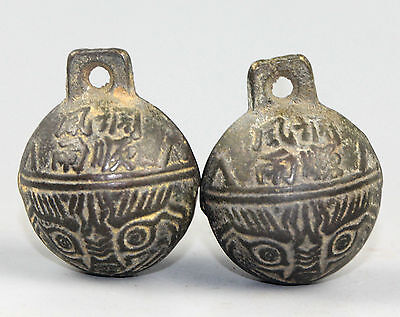 A Pair Of Ancient Chinese Bronze Big Bell