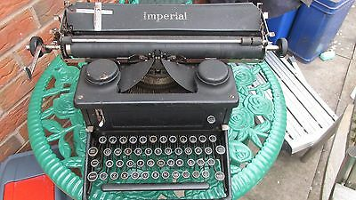 Antique / Vintage Cast Iron Imperial Typewriter