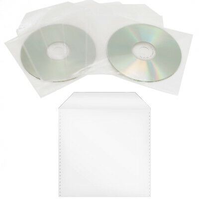 1000 x CD/DVD/BD Nylon Folie Sleeve Hüllen mit Lasche Bluray Disc Sleeves Tüten