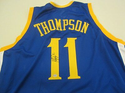 Klay Thompson Golden State Warriors Hand Signed Autographed Jersey XL