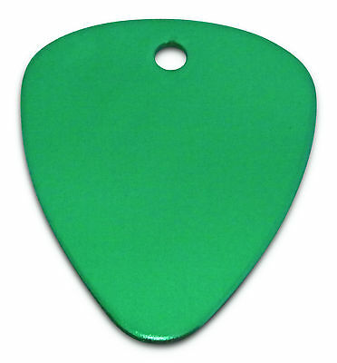 Engraved / personalised Anodized guitar pick / plectrum in gift pouch - C8GRN