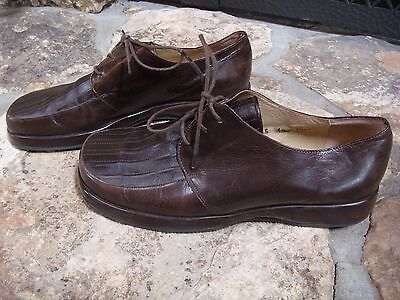 Giraudon New York Brown Leather Lace Up Oxford Shoes EU Sz 40 US 9 Portugal