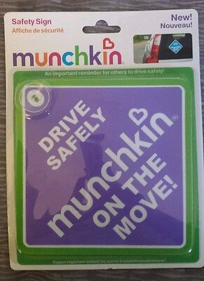 Car Safety Sign Munchkin on the Move New Purple