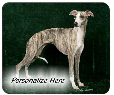 Whippet  ( 3 )   brindle     Personalized  Mouse Pad