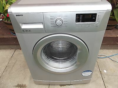 Silver Beko 6Kg Washing Machine Fully Refurbished Comes With 3 Months Warranty