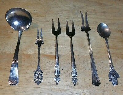 Vintage Sterling Aztec Cocktail Forks RW&S Serving Spoon TH MARTHINSEN Lot 115g