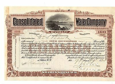Consolidated Water Company of Utica New York  1904