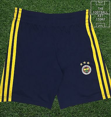 Fenerbahce Home Shorts -  Official adidas Turkish Football Shorts - Boys Sizes