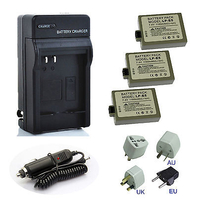 Canon LP-E5 LPE5 LC-E5E Battery / Charger for EOS 450D 500D Rebel T1i Camera