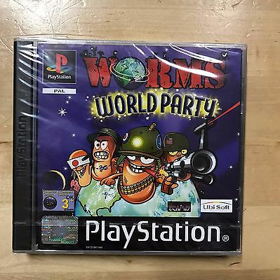 Factory Sealed Worms World Party Playstation Ps1 Rare Pal