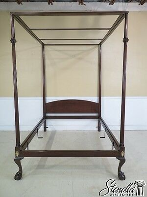 22184E: KITTINGER CW-139 Ball -N- Claw Foot Mahogany Queen Size Poster Bed