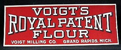 Royal Patent Flour Paper Sign Voigt Milling Grand Rapids Mich Old Unused Stock