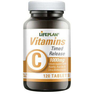 Lifeplan Vitamin C 1000mg Time Release - 120 tablets