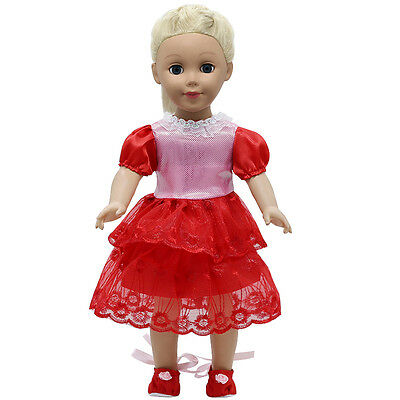 "Fits 18"" American Girl Madame Alexander Handmade Doll Clothes dress MG266"