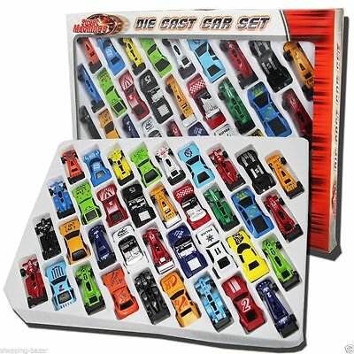 36pcs Metal Die Cast Kids Cars Gift Set Xmas F1 Racing Vehicle Chidren Play Toy