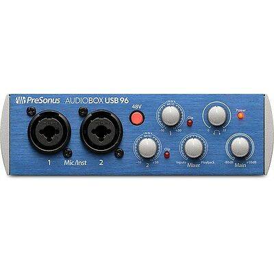 PreSonus AudioBox USB 96 2x2 USB Home Studio Audio Recording Interface System