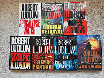 Lot Of 7 Hardback Books By Robert Ludlum