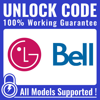 LG Phone Unlock Code for Bell Canada ALL MODELS
