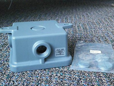 Federal Gasketed Weatherproof Back Box, Gray 4A969