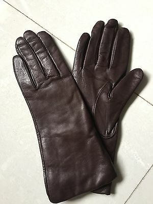 Lady's 💯 % Cashmere Lined Genuine Leather Gloves In Size 7