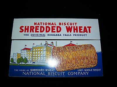 Vintage 1973 NABISCO Metal Shredded Wheat Recipe Box Tin National Biscuit