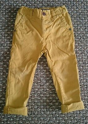 Boys Next Mustard Yellow Chinos Trousers 18-24 Months