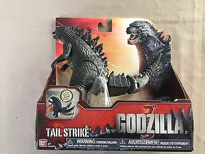 "BanDai 7"" Tall GODZILLA ""Tail Strike"" TOHO Action Figure NEW in Box 2014 Movie"