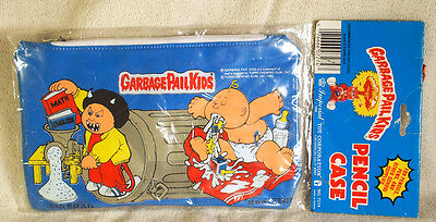 1985 Garbage Pail Kids Pencil Case w/ Bad Brad Heavin' Steven Mad Mike +