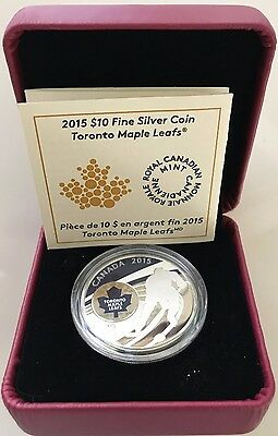 Canada 2015 NHL Toronto Maple Leafs Colored Logo $10 Silver Coin