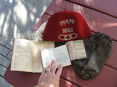 VINTAGE  INDEPENDENT ORDER of ODD FELLOWS ASSORTMENT OF ITEMS-  ORIGINAL THINGS