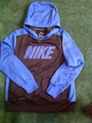 Boys Nike Dri-Fit Hoodie Size Youth Large Blue/Black Color VGUC