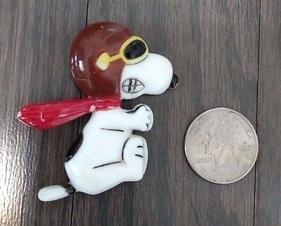 Vintage 1972 Peanuts Snoopy Pin Flying Ace Pilot