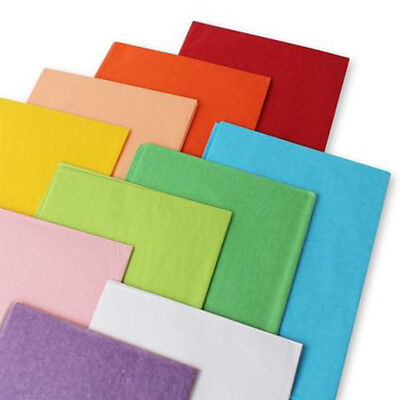 Coloured Tissue Paper Sheets Acid Free 50x75cm Large Luxury Plain Gift Wrapping