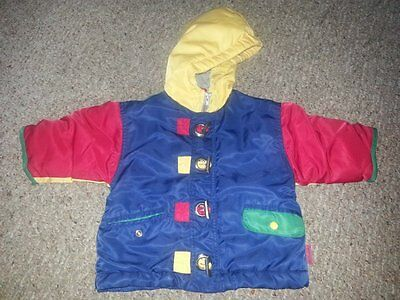 GYMBOREE Multi Colored Hooded Winter Parka Jacket XS Boys Size 4