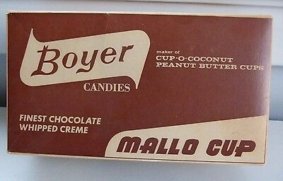 Vintage MALLO CUP Advertising Cardboard Candy Store Box Boyer Bros Altoona PA