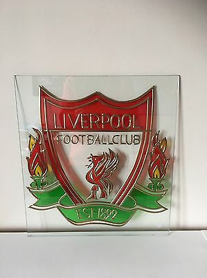 Liverpool FC Stained Glass Panel. Superb One Of A Kind Item.