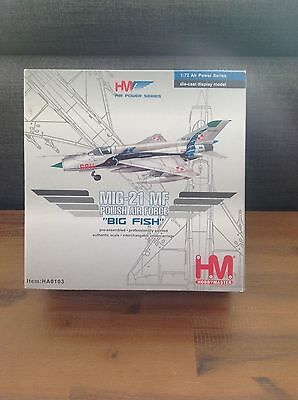 Mig 21 big fish hobby master polish air force 1:72