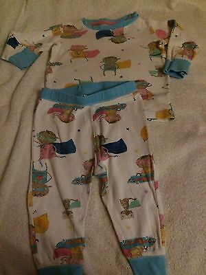 NEXT Girls PJs PYJAMAS Superhero 9-12 months