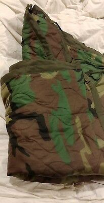 Poncho Liner Woobie Blanket US Military Issue Woodland Camo Good colors