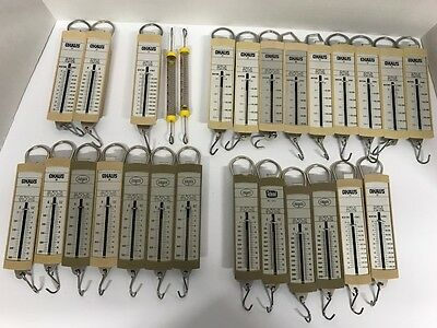 Hanging Pull String  Pulley SCALE Science Lab Ideal Ohaus Lot of 27 Assorted