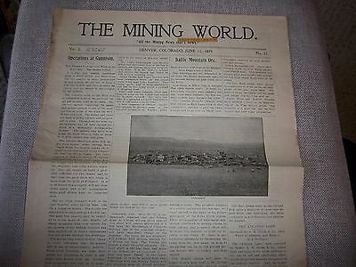 "106 - 1899 ""The Mining World"" Newspaper - Colorado - Arizona - Gold - Silver Ore"
