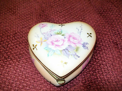 Vintage  Heart Trinket Box by Lefton NICE!!!!!