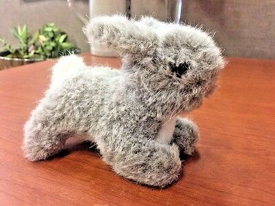 Vintage Steiff Standing Mohair Collector Bunny Rabbit with Glass Eyes 1950s - 60