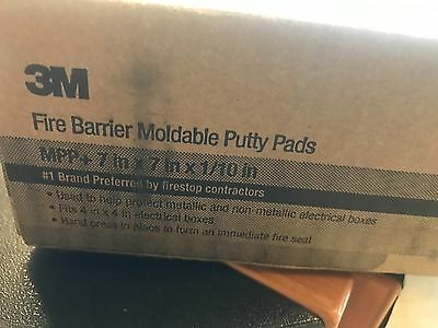 """1 box 20 Sheets 3M Fire Barrier Moldable Putty Pads 7""""x7in MPP+98-0400-5524-0"""
