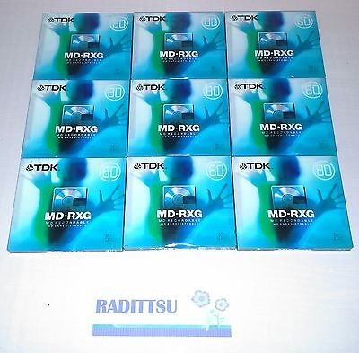 Lot 9 Minidisc Mini Disc Tdk Md-Rxg 80 Min Recordable Enregistrable Neuf Blister