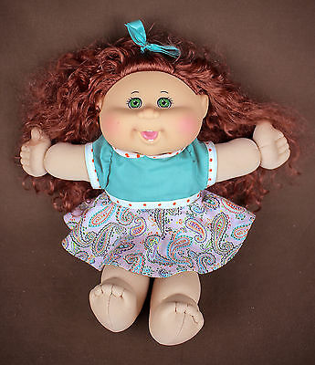 Cabbage Patch Kids Plush Doll CPK * 2015 * red hair green eyes * scented * NICE