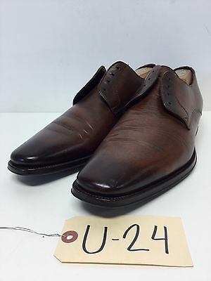 U24 To Boot New York Felix Brown Leather Plain Toe Oxford Men Shoe Size 10 M