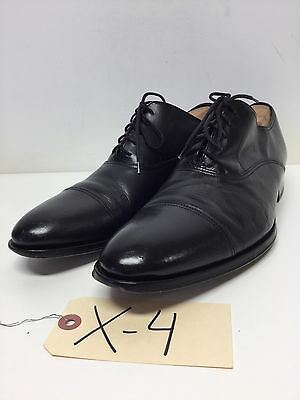 X4 To Boot New York Brandon Black Leather Cap Toe Oxfords Men's Size 10 M